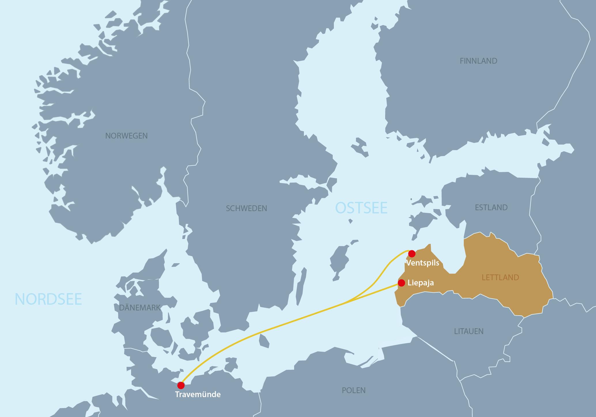Karte Lettland