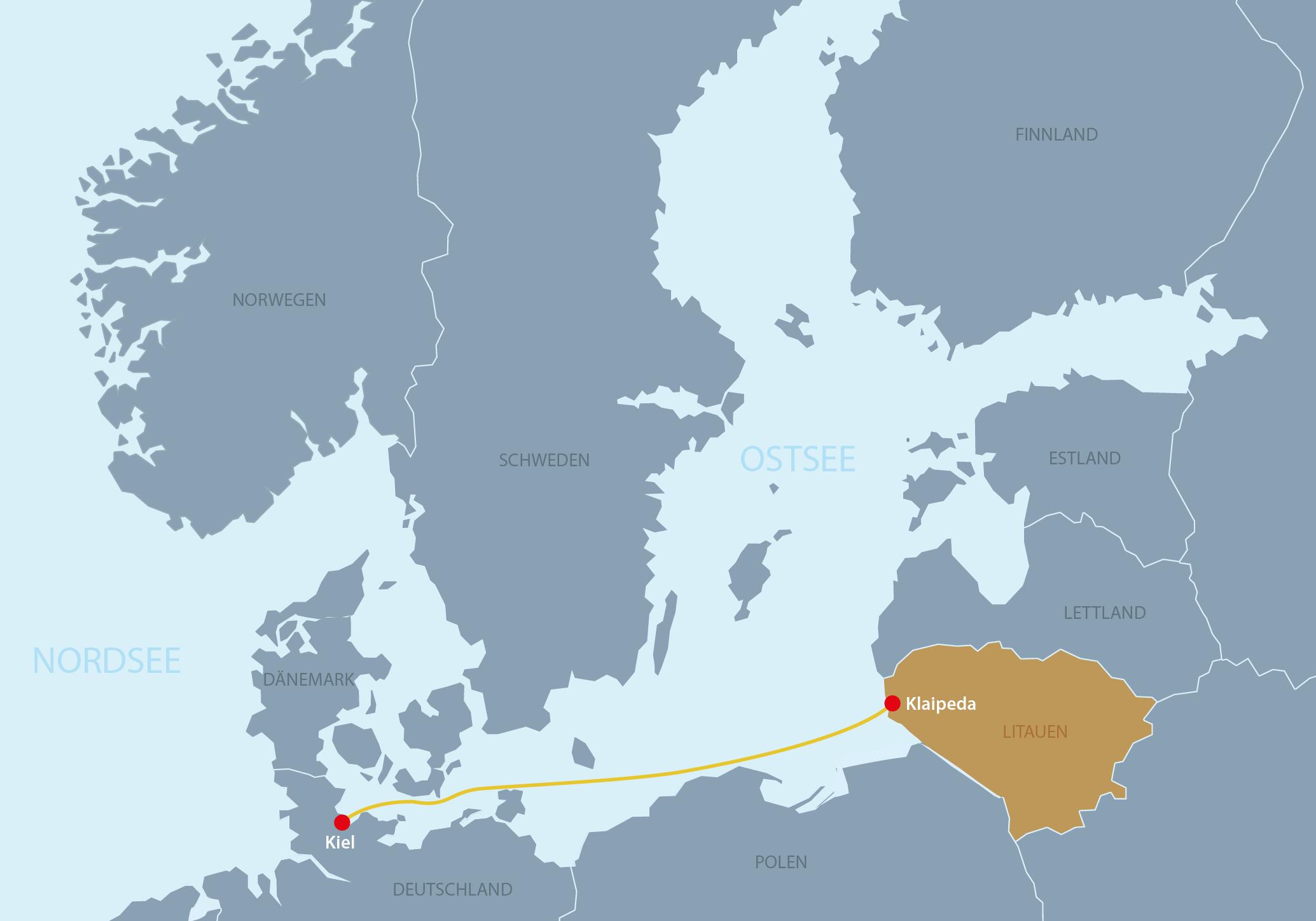 Karte Litauen